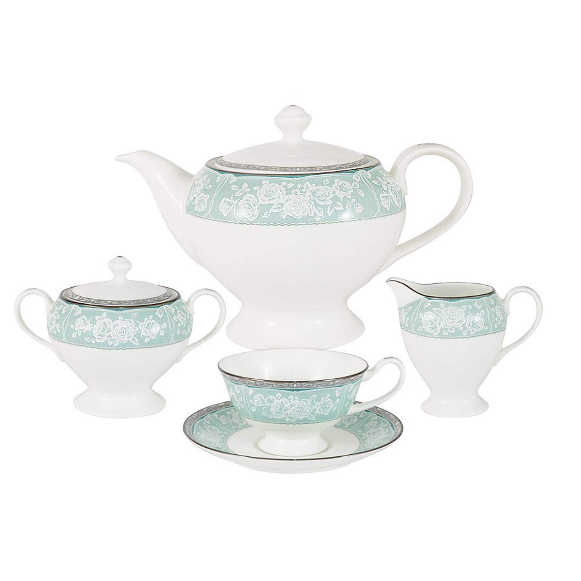Сервиз чайный Narumi Прикосновение 17 предметов 6 персон