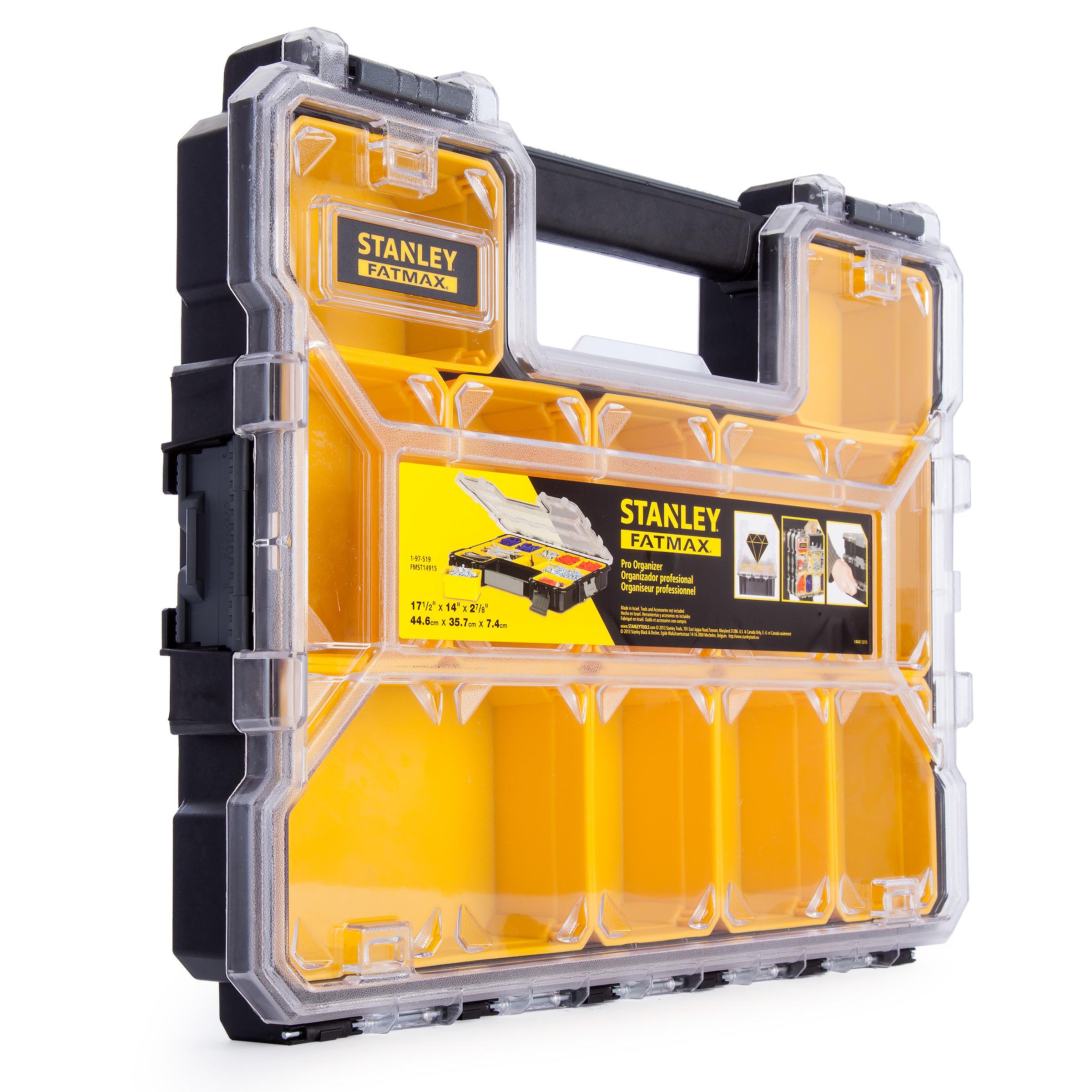 Органайзер профессиональный Stanley FatMax Shallow Pro Plastic Latch 1-97-519 органайзер профессиональный stanley 8 отделений 1 92 749