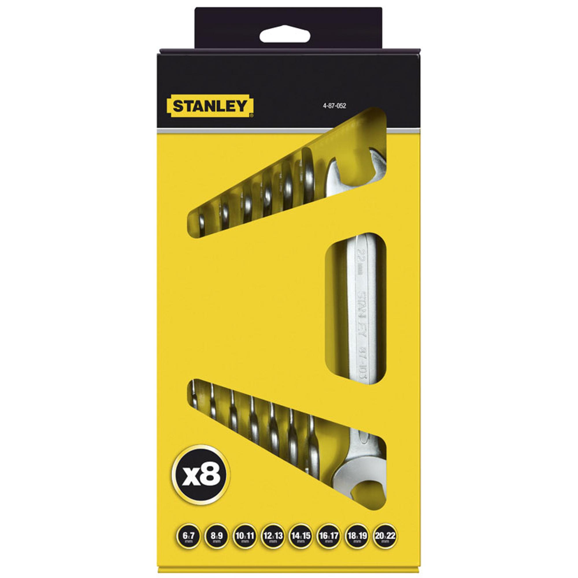 Фото - Набор рожковых гаечных ключей STANLEY MaxiDrive Plus 8 шт набор ключей гаечных рожковых углеродистая сталь 12 предметов
