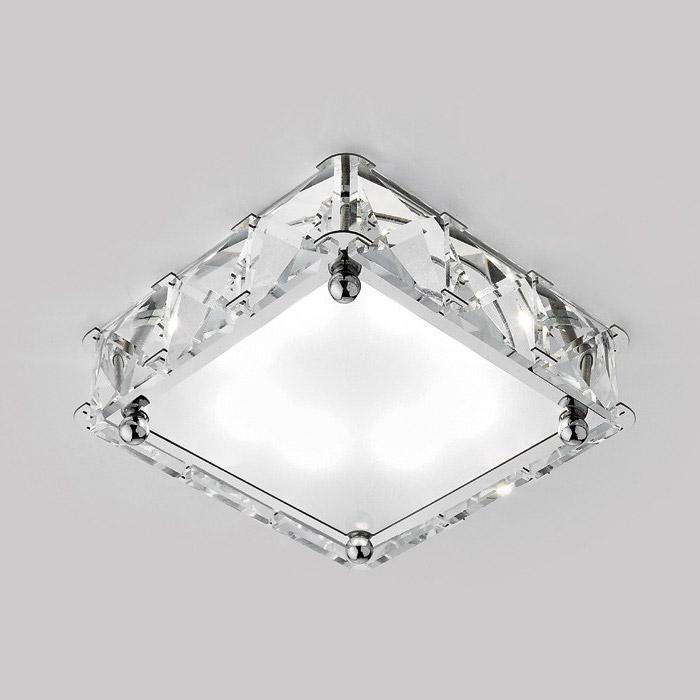 Встраиваемый светильник Ambrella S50 CH/W встраиваемый светильник ambrella light d1172 w ch