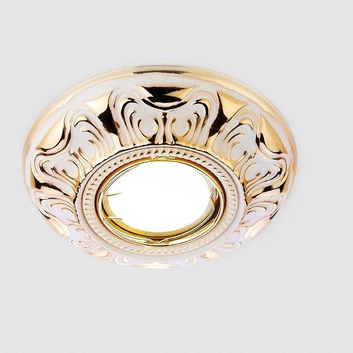Светильник точечный Ambrella light d1172 w/g белый/золото mr16 встраиваемый светильник ambrella light d1172 w ch