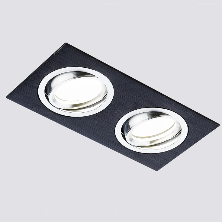 Светильник сатин/черный mr16 Ambrella light A601/2 BK