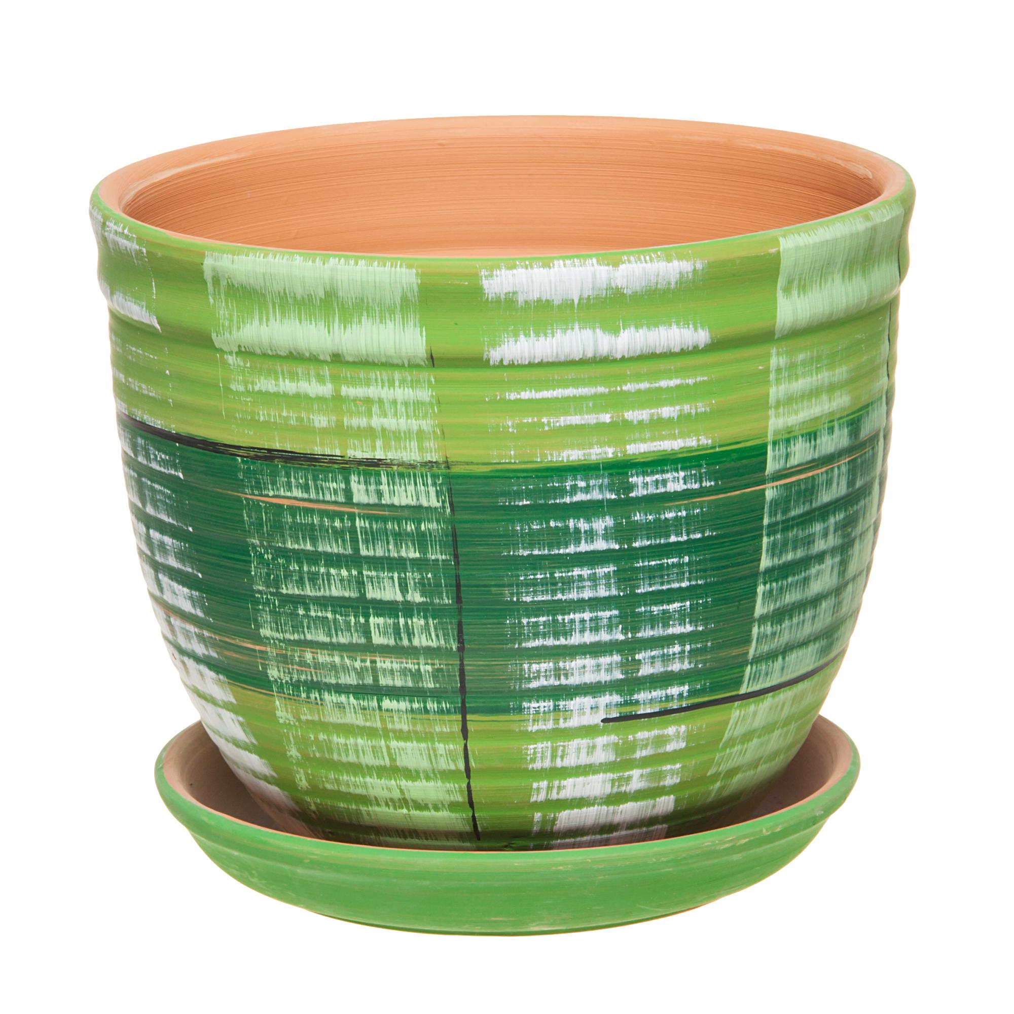 Горшок Серебряный ручей D 24.5 см зеленый фото