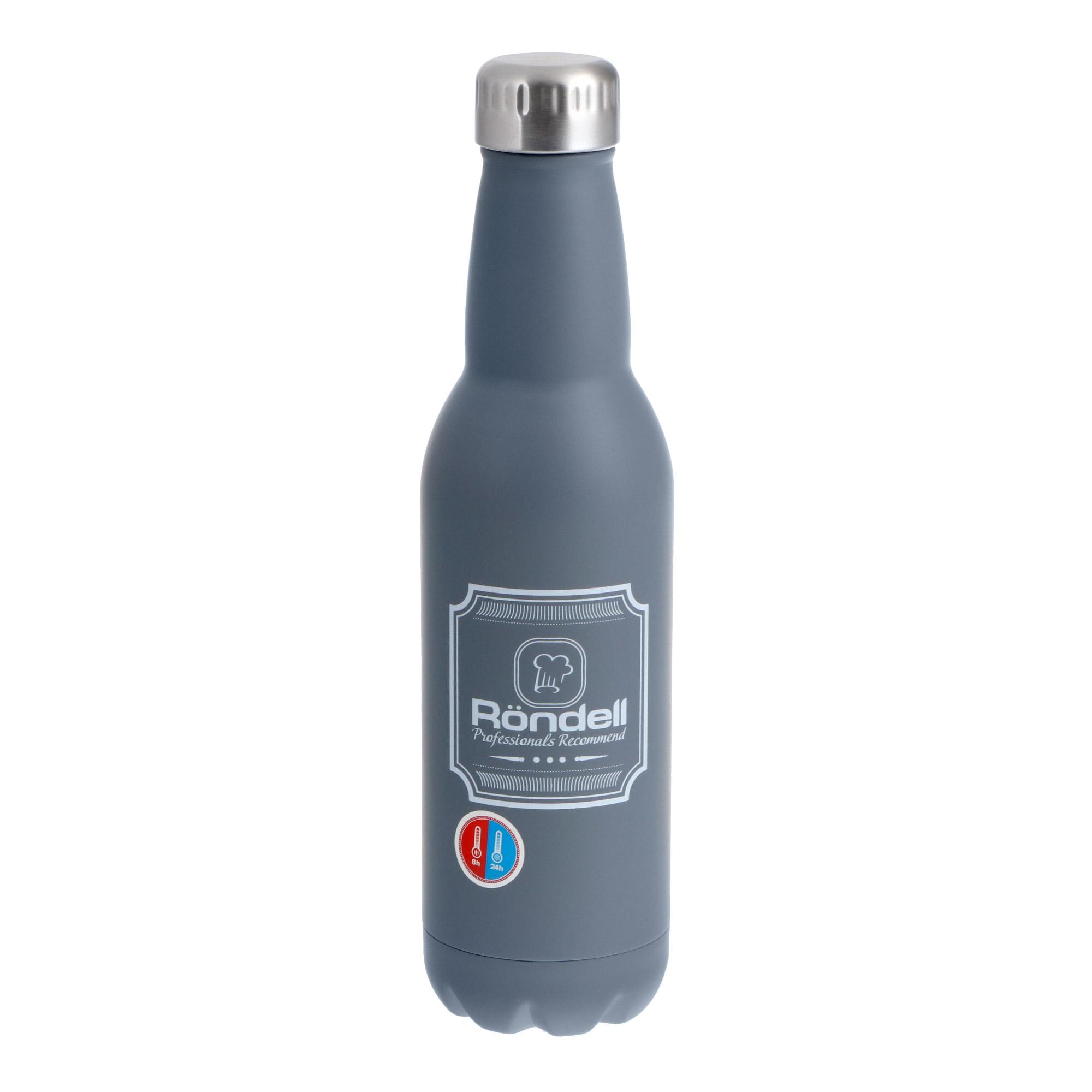 Купить Термос Rondell Bottle Grey 750 мл, Китай, Высококачественная сталь нержавеющая 18/10