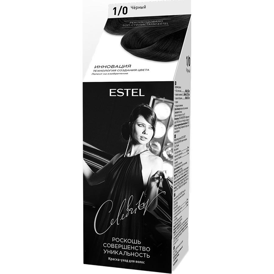 Краска-уход для волос Estel Celebrity 1/0 Черный 140 мл фото