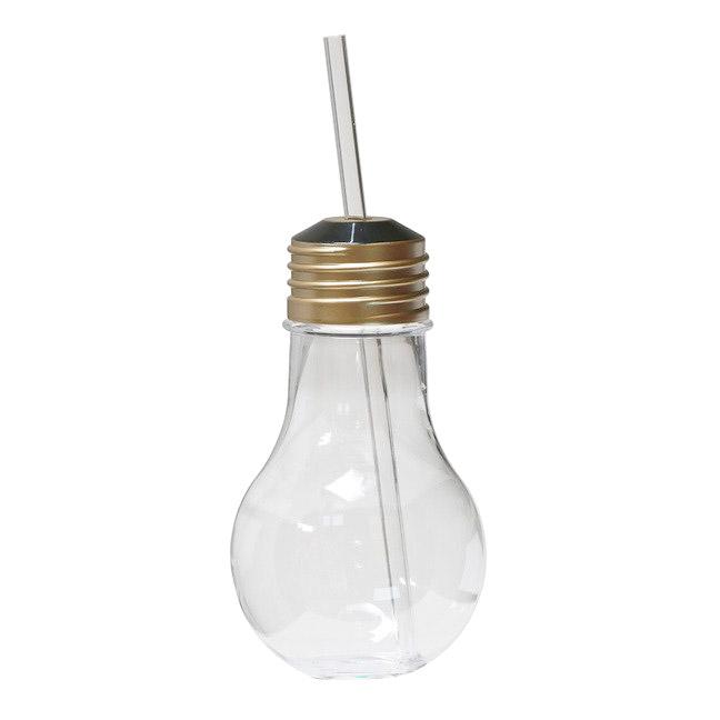 Бокал-лампочка с соломинкой Diligence4us Light Bulb для напитков 0,42 л
