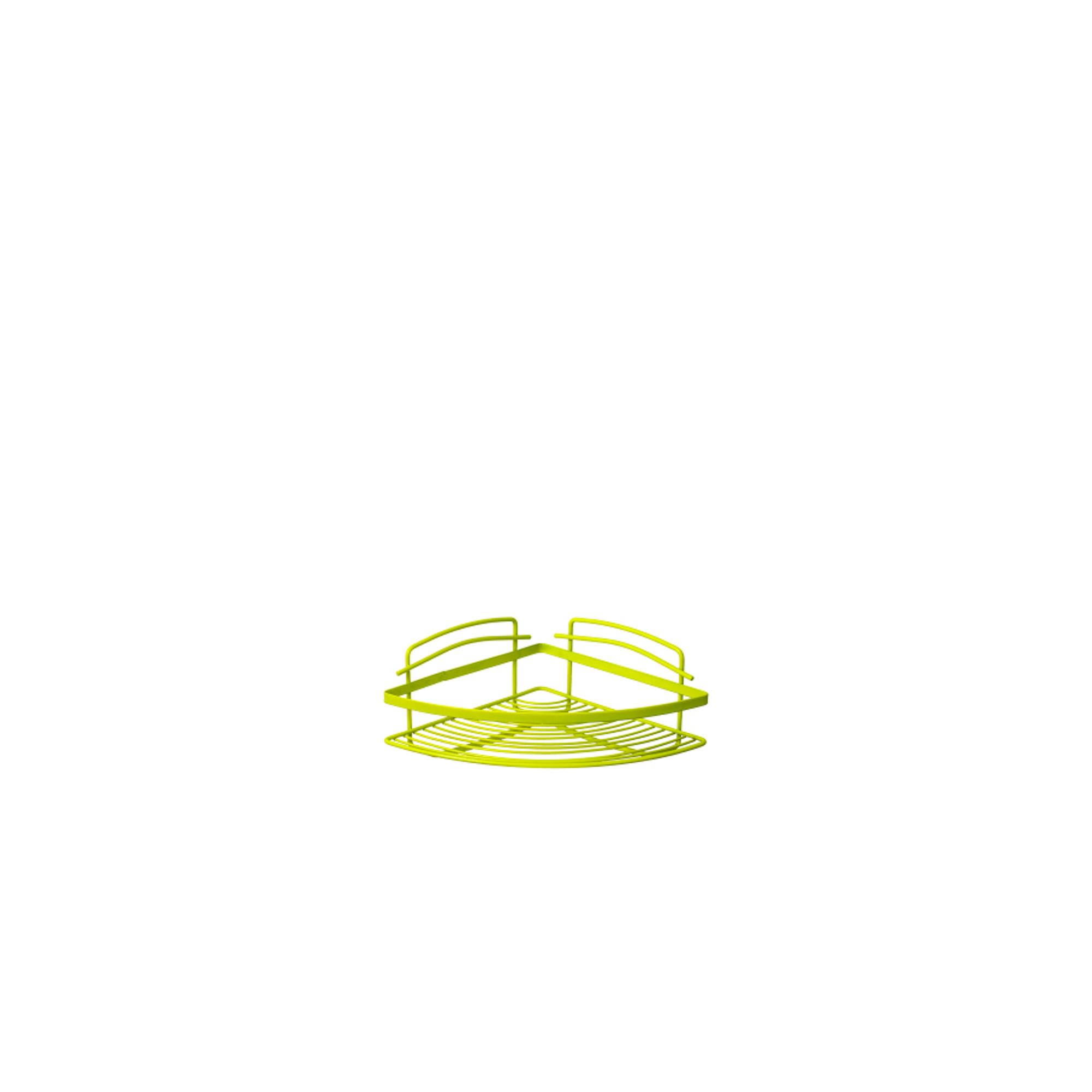 Полка угловая одноэтажная зеленая Fixsen
