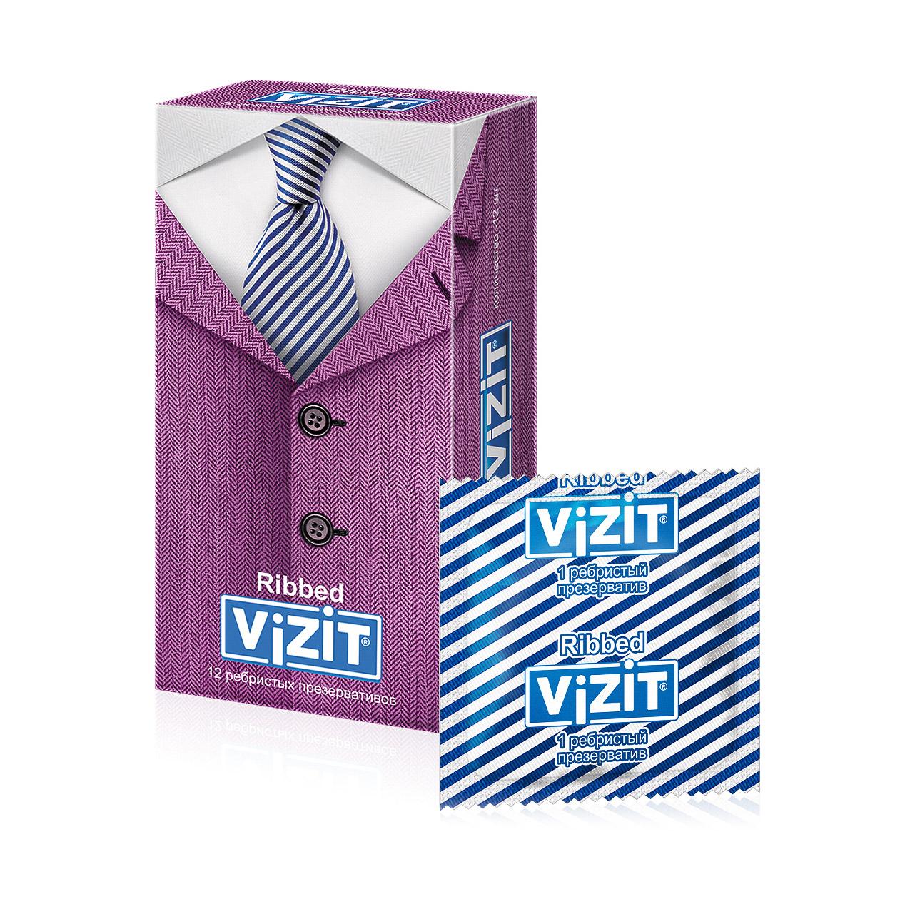 Презервативы VIZIT Ribbed Ребристые 12 шт