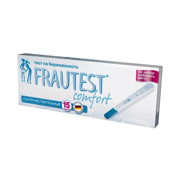 Тест на определение беременности FRAUTEST Comfort в кассете 1 шт