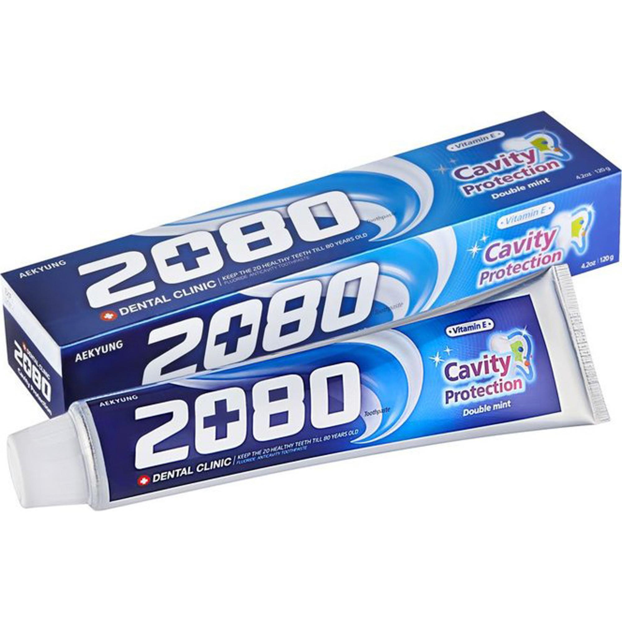 Зубная паста Kerasys Dental Clinic 2080 Double Mint Натуральная мята 120 г