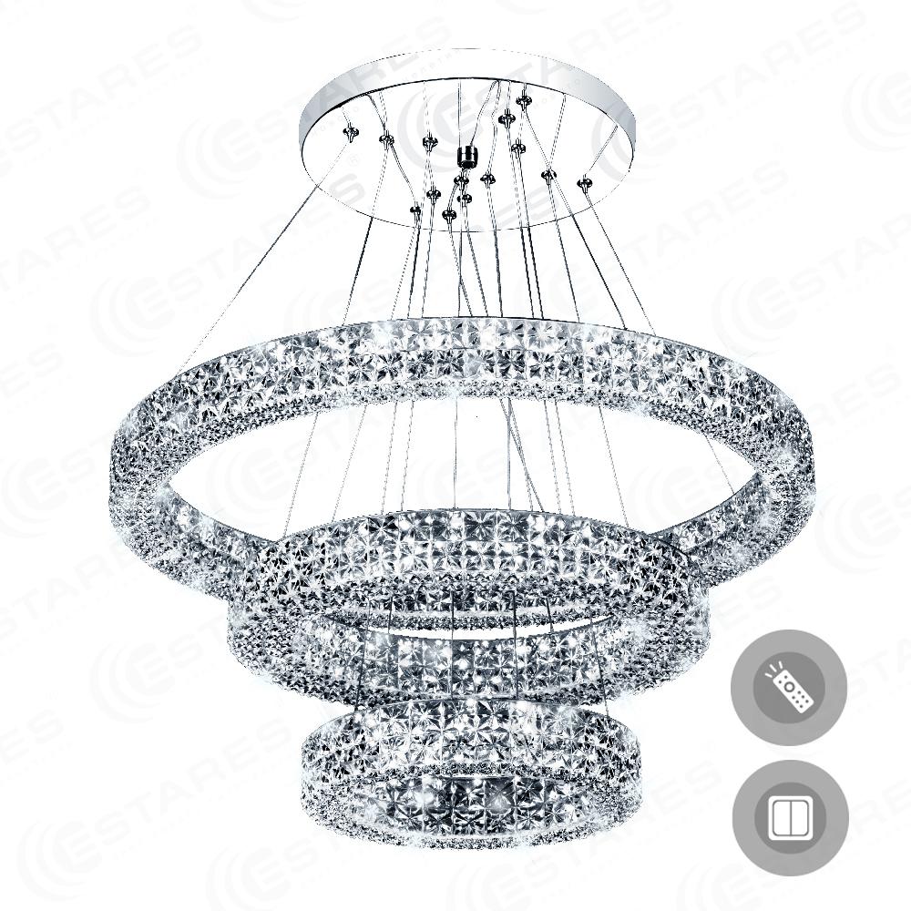 Фото - Светильник управляемый светодиодный Akrilika 80w 3r-600 управляемый светодиодный светильник estares liana muse 80w r 600 chrome opal 220 ip20