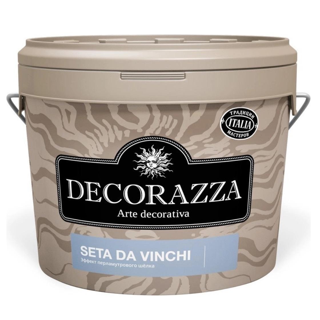 Декоративное покрытие с более выраженным эффектом перламутрового шёлка Decorazza dz seta da vinci sd 001. 5 кг фото