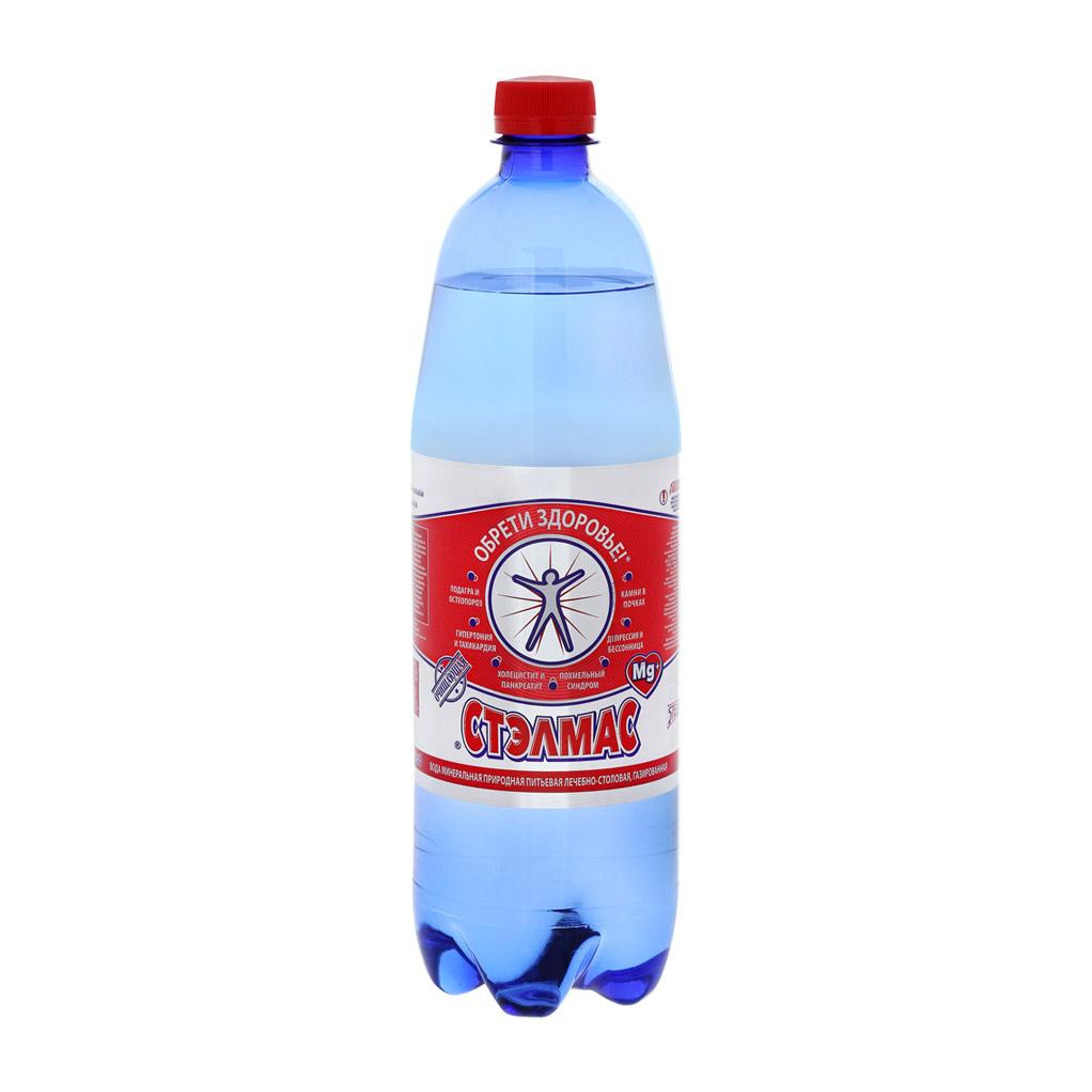 Вода минеральная Stelmas Mg газированная 1 л недорого
