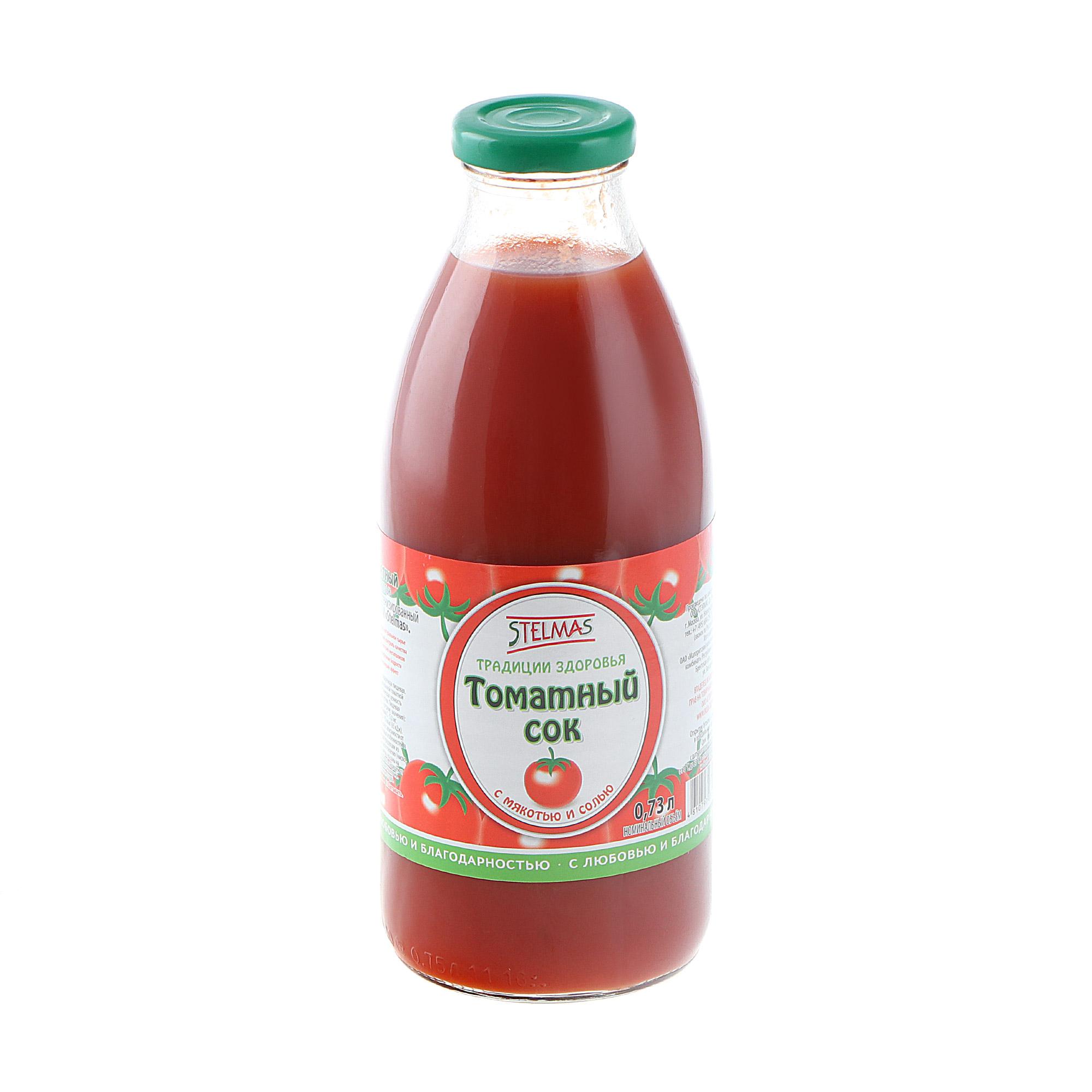 Сок Stelmas томатный 0,73 л