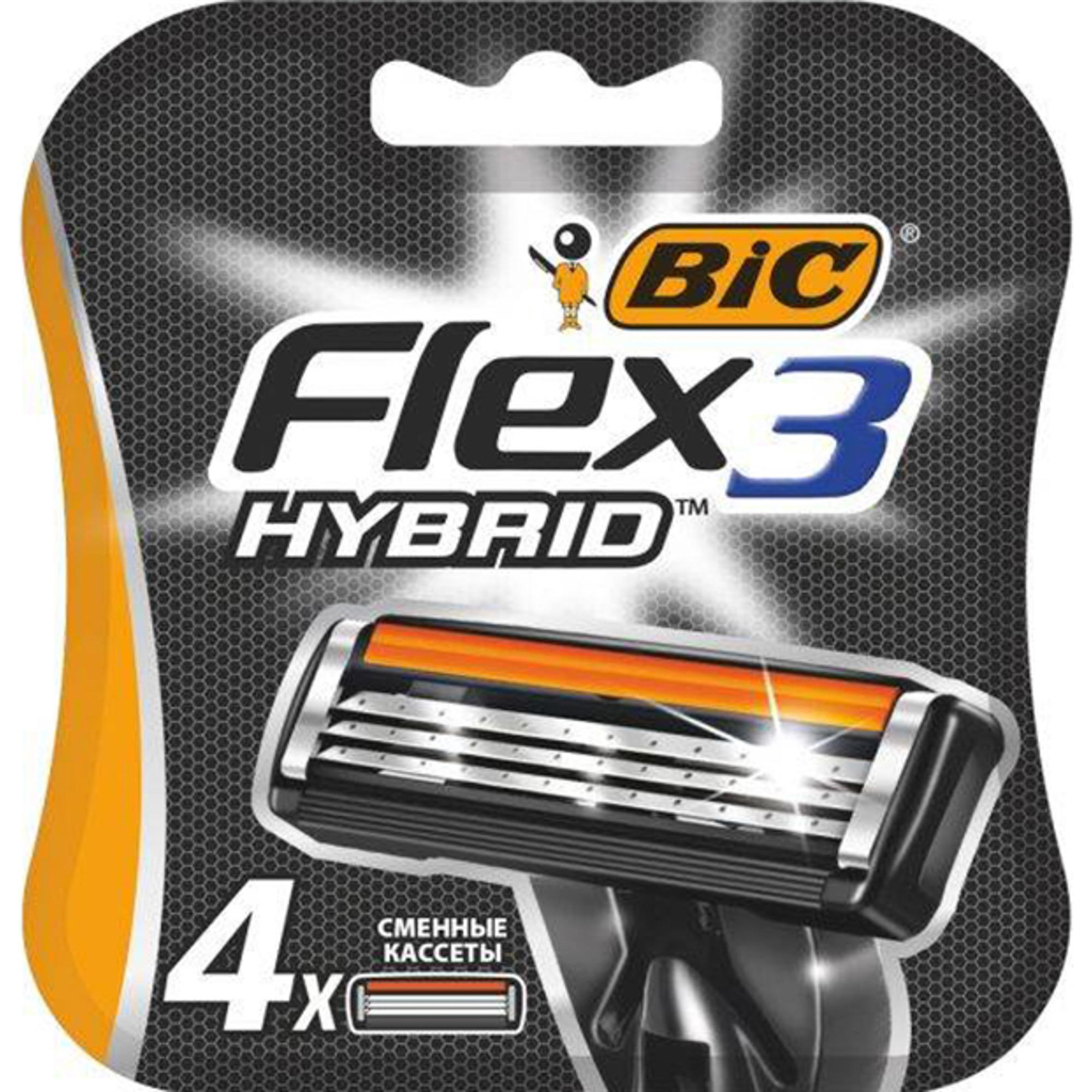 Сменные кассеты для бритья BIC Flex Hybrid 3 4 шт.