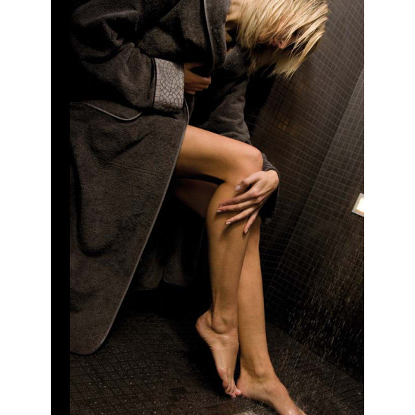 Халат махровый унисекс XXXL Cesare Paciotti Pave Ricamato черный (PAVE RICAMO/XXXL/13)