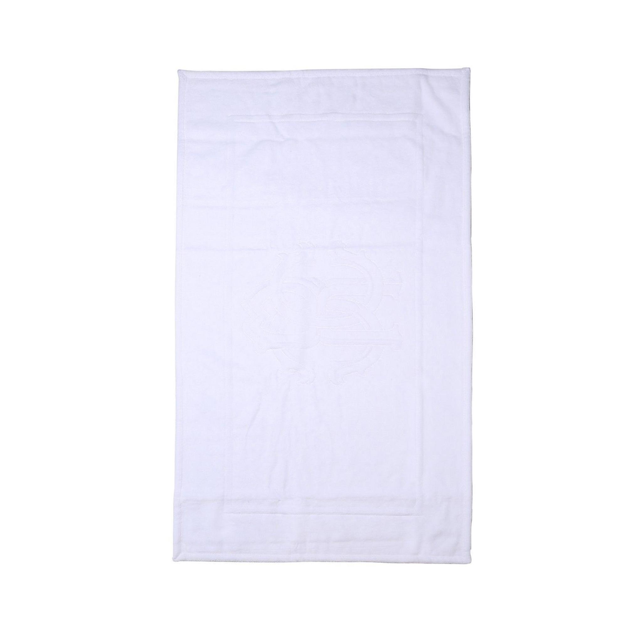 Купить Коврик для ванной 60 х 90 см Roberto Cavalli Logo белый (22155), коврик для ванной, Италия, хлопок 100%