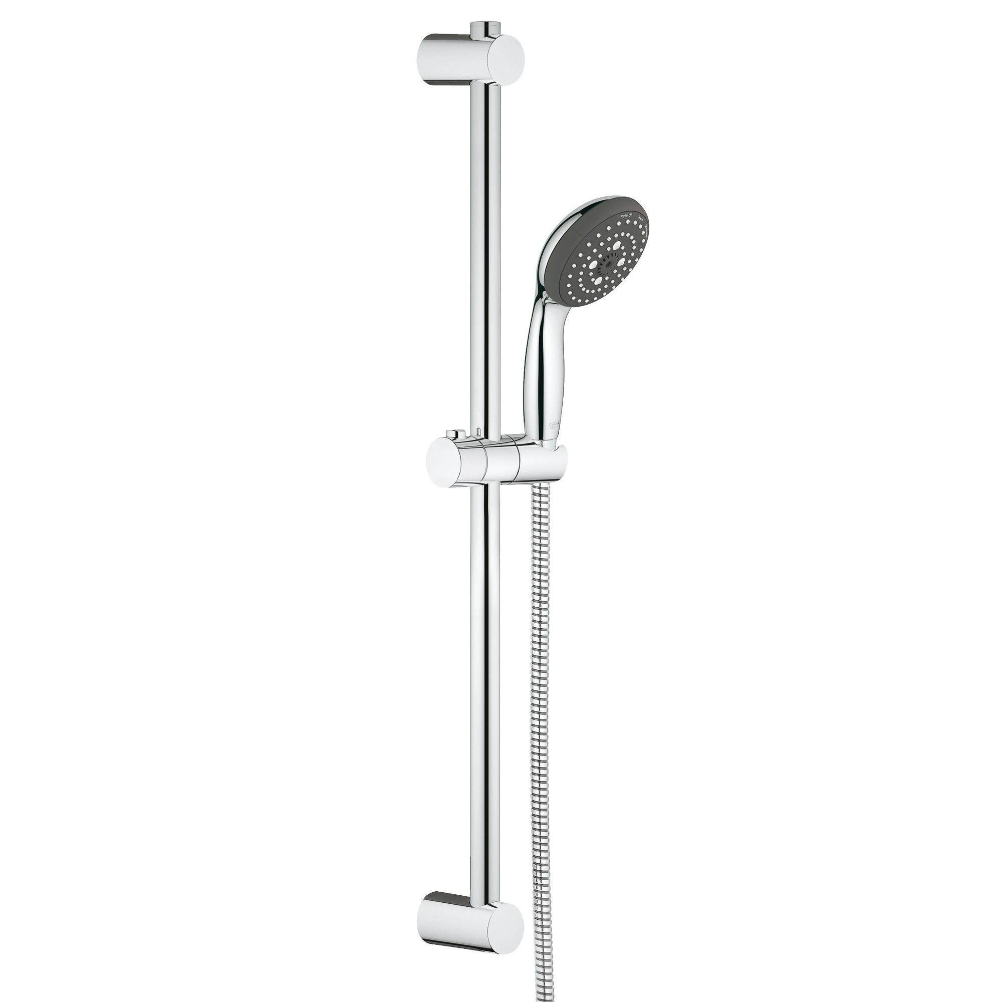 Купить Душевой гарнитур GROHE Vitalio Start 100 III 600 мм, 9, 5 л (26032000), ручной душ, Германия, пластик, покрытие хром