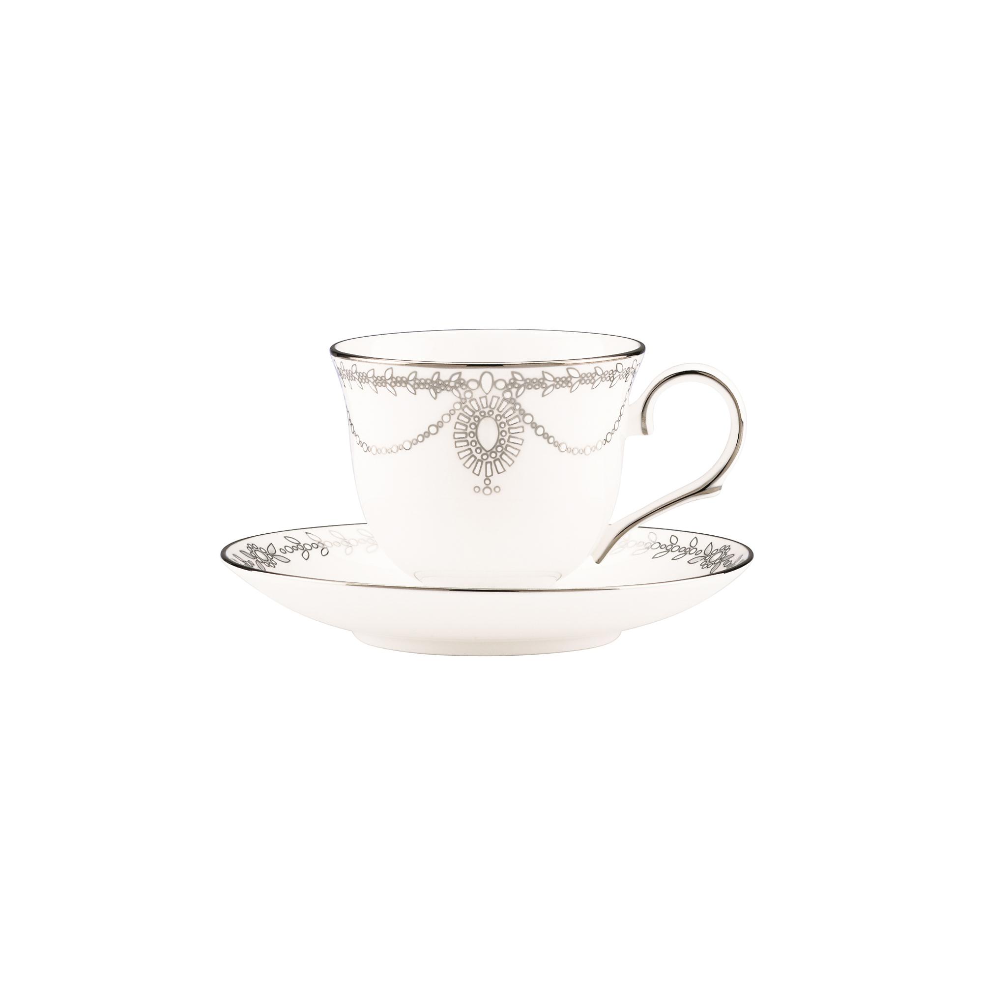 Чашка чайная с блюдцем Lenox Королевский жемчуг 180 мл белый