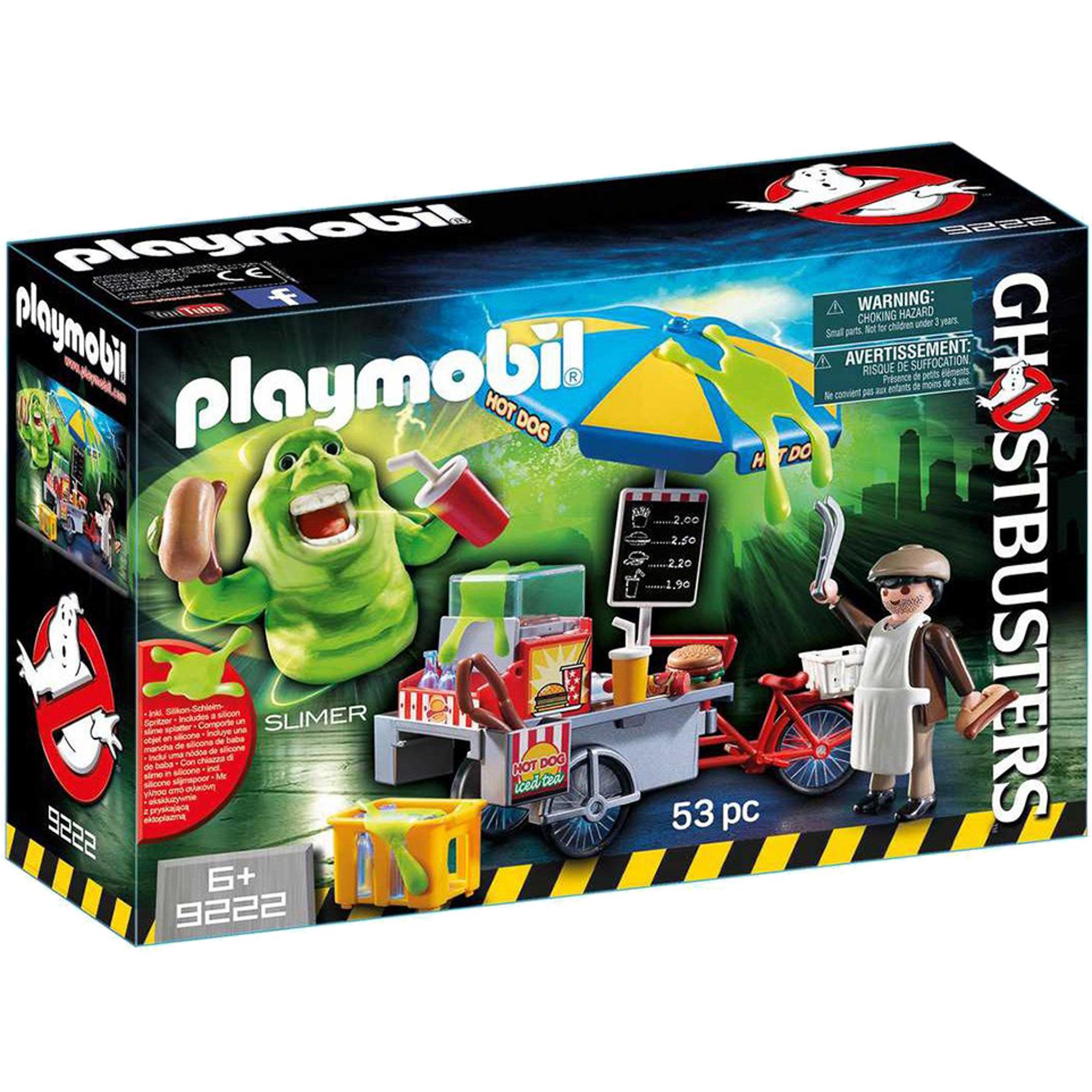Фото - Игровой набор Playmobil Охотники за привидениями Лизун и торговая тележка с хот-догами playmobil® конструктор playmobil охотник за привидениями