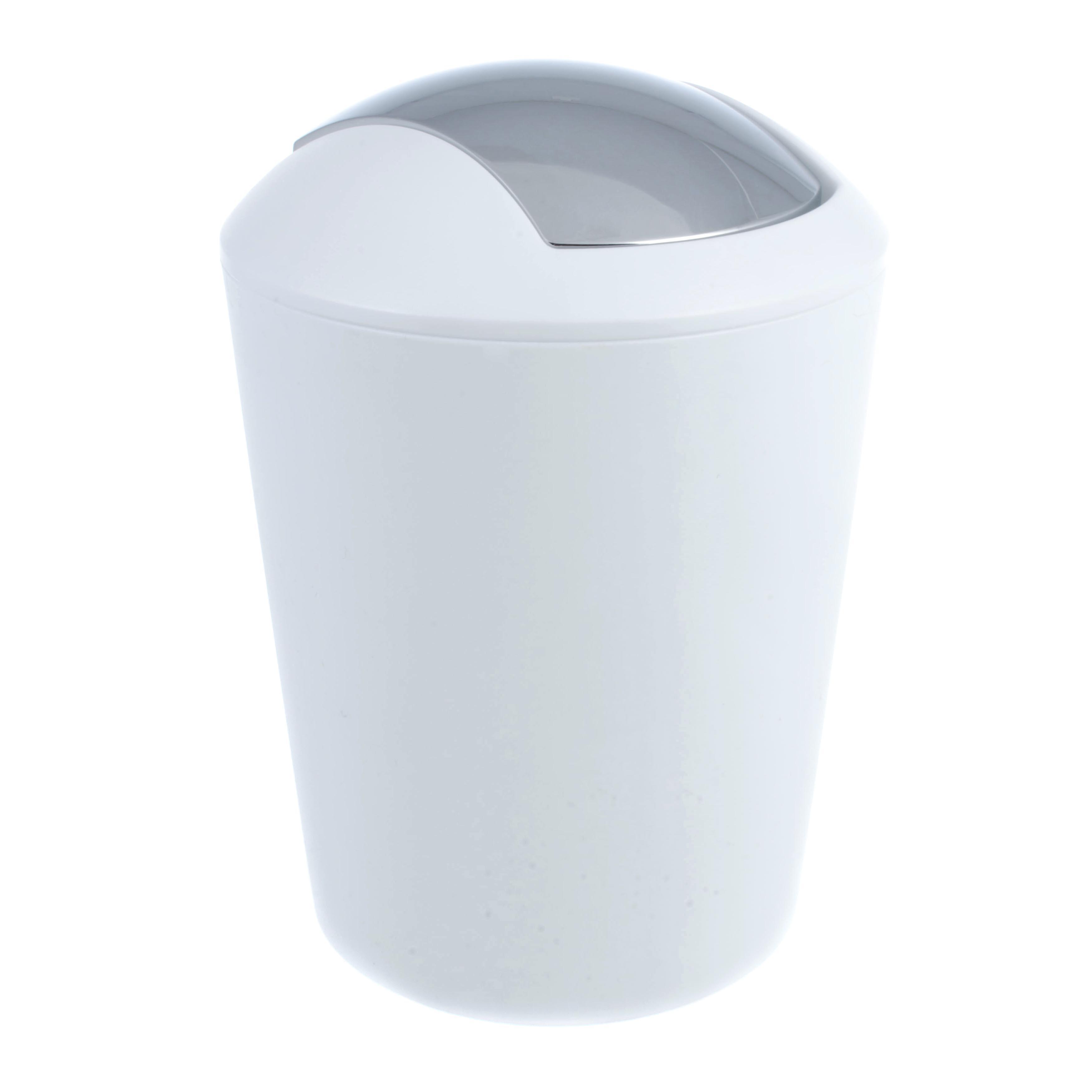 Купить со скидкой Ведро мусорное для ванной marta белое Kela