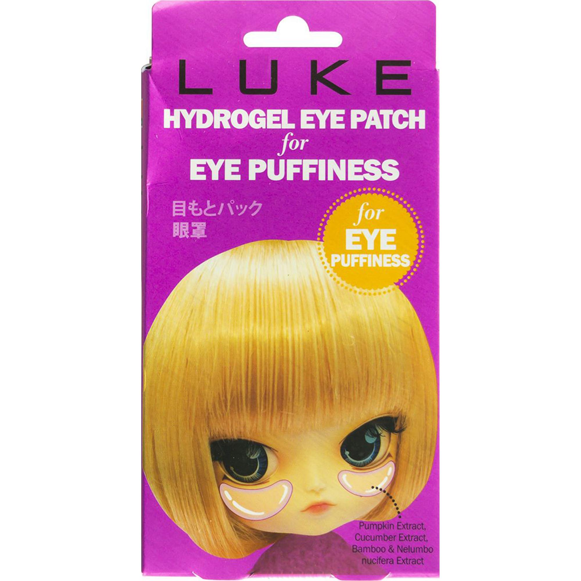 Гидрогелевые патчи для глаз LUKE От припухлостей с экстрактами огурца и бамбука.