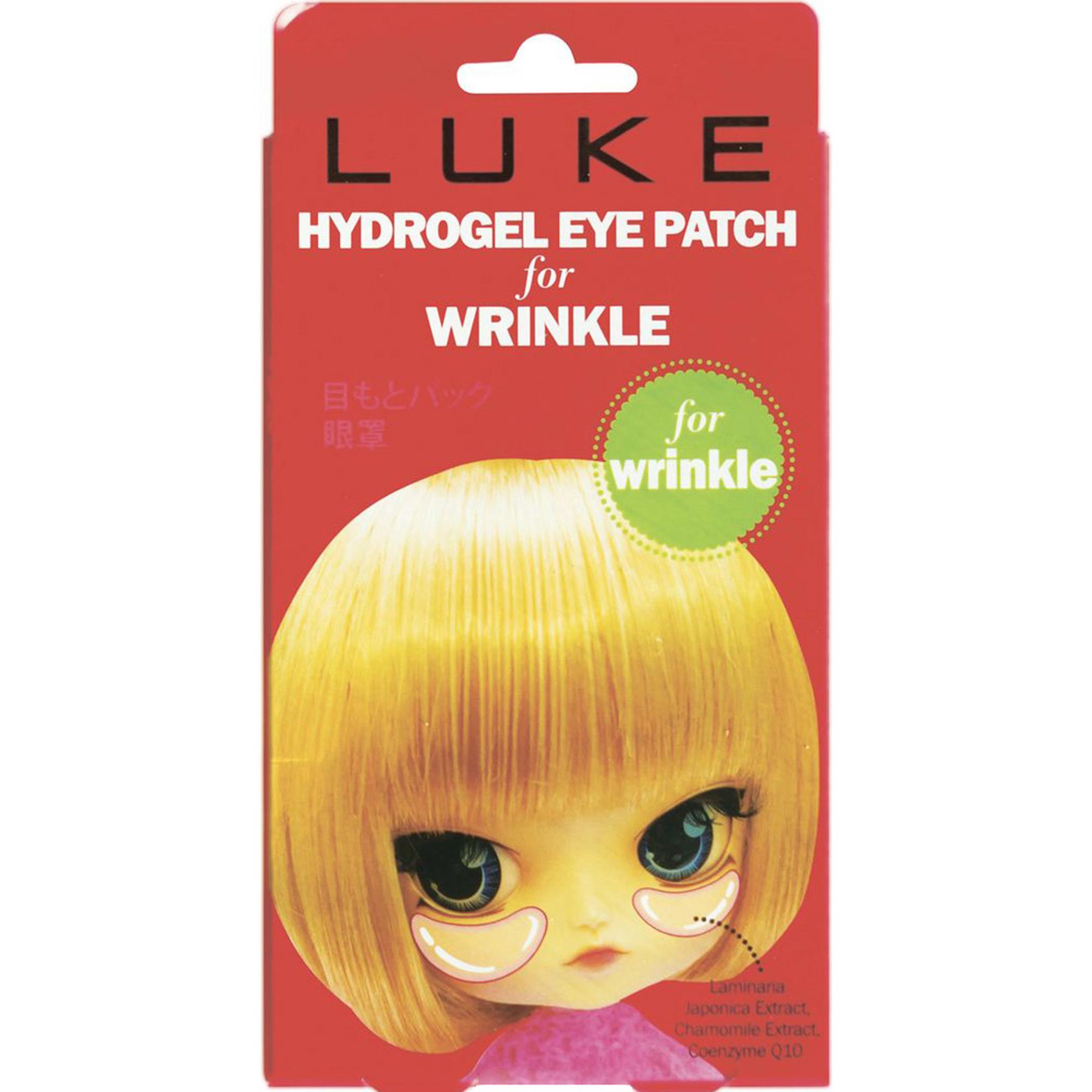 Гидрогелевые патчи для глаз LUKE Против морщин с коэнзимом Q10.