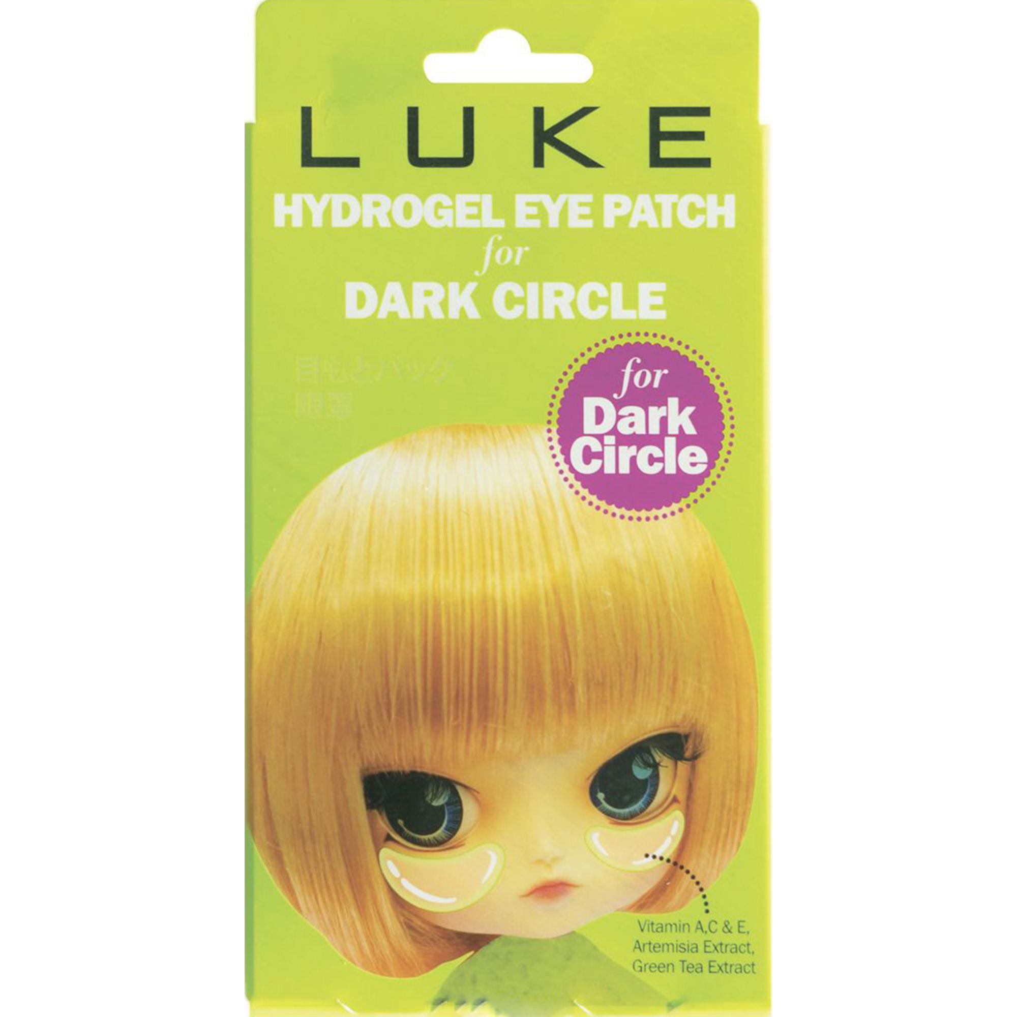Гидрогелевые патчи для глаз LUKE Против темных кругов с экстрактом зеленого чая.