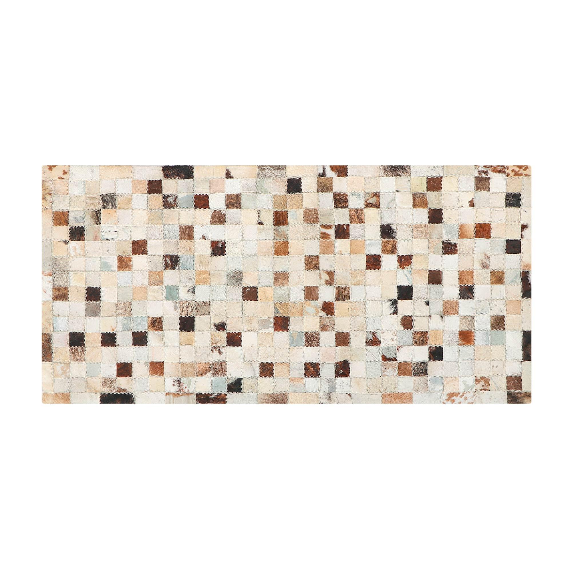 Фото - Коврик серый/бежевый Abc leather patchwork 120x60 коврик серый 80x50 abc la cucina zen