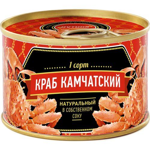 Краб натуральный Путина «А-ГРЕЙД» в собственном соку, 240 г