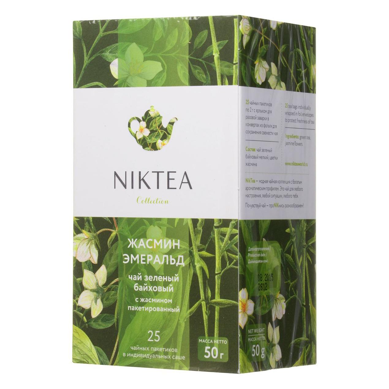 Чай зеленый Niktea Жасмин Эмеральд 25 пакетиков недорого