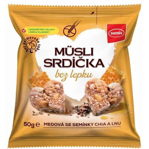 Мини-снеки SEMIX 2 GO мюсли с медом, семенами чиа и льна 50 г каша semix с семенами чиа яблоком и корицей 65 г