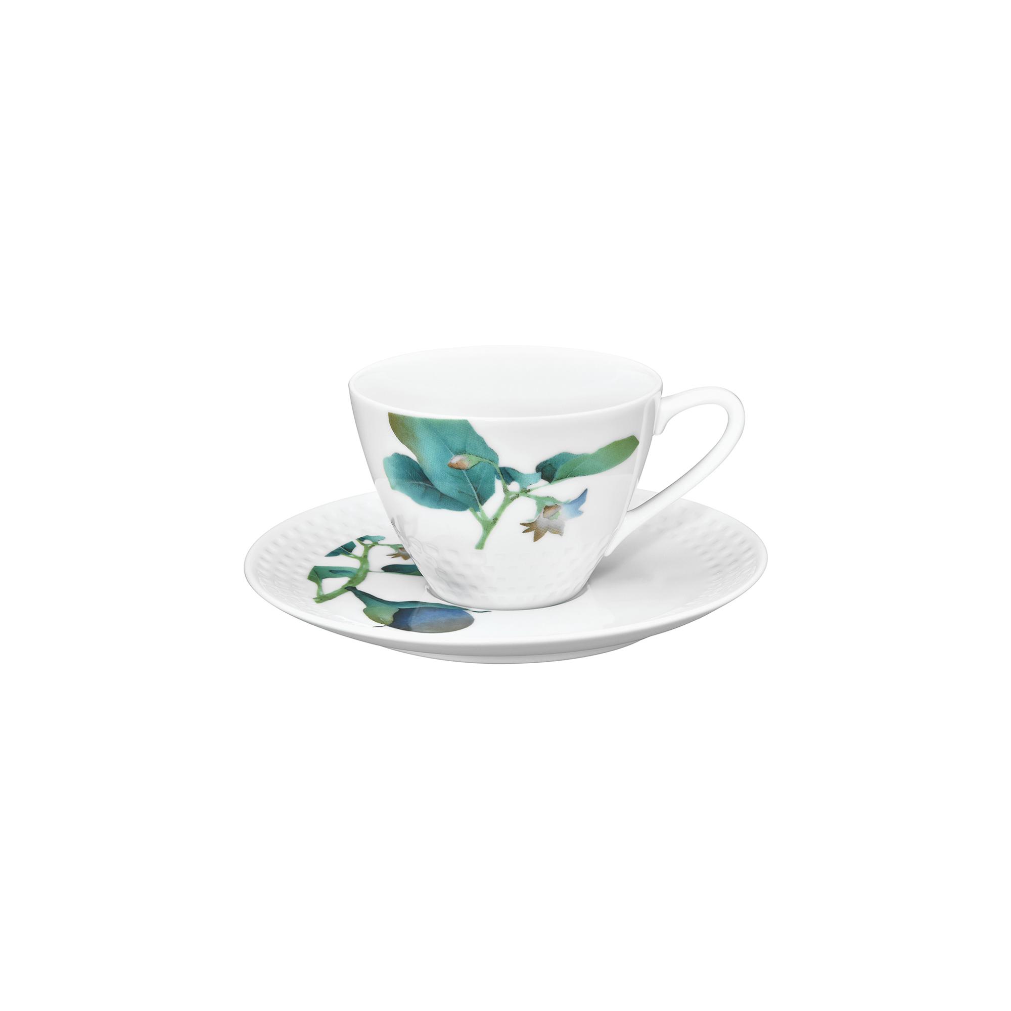 Чашка с блюдцем Noritake Овощной букет Баклажан (NOR1620-Q012WA17-2) фото