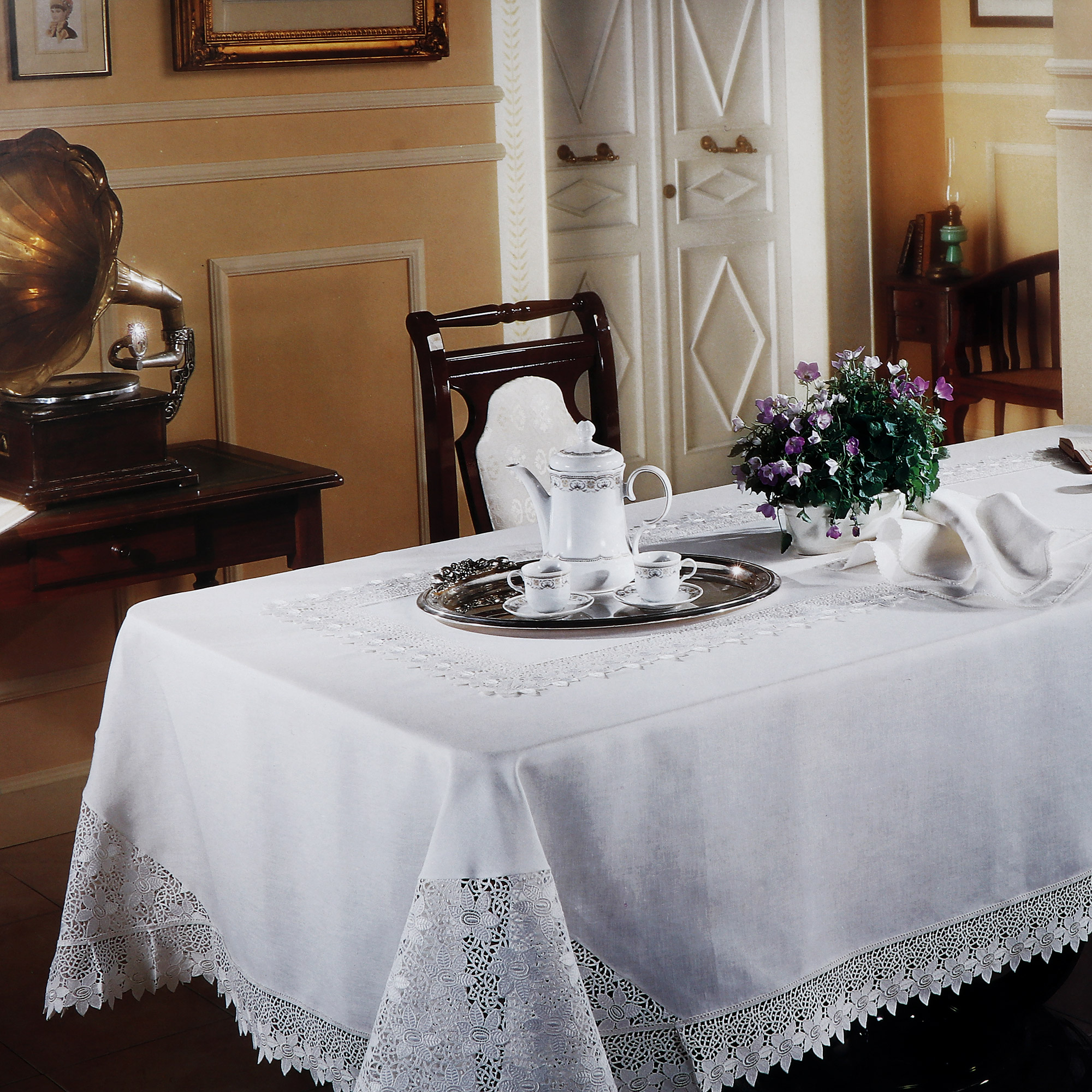 Скатерть комплект столовый Gamba скатерть 170х280+12 салфеток