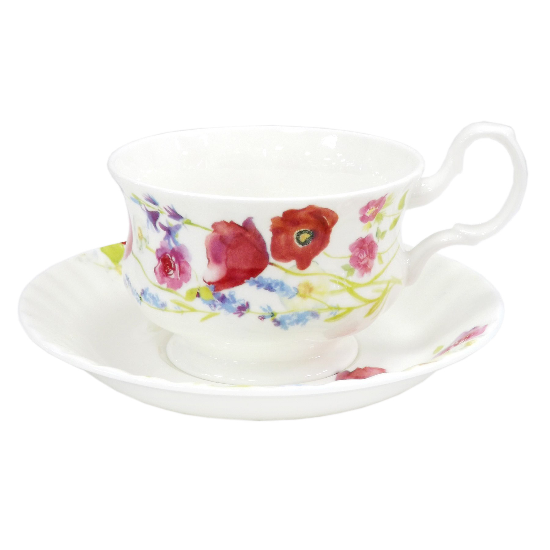 Фото - Пара чайная Top art studio луговые маки акварелью LD2231-TA чайная пара top art studio королева эстева роз 300 мл