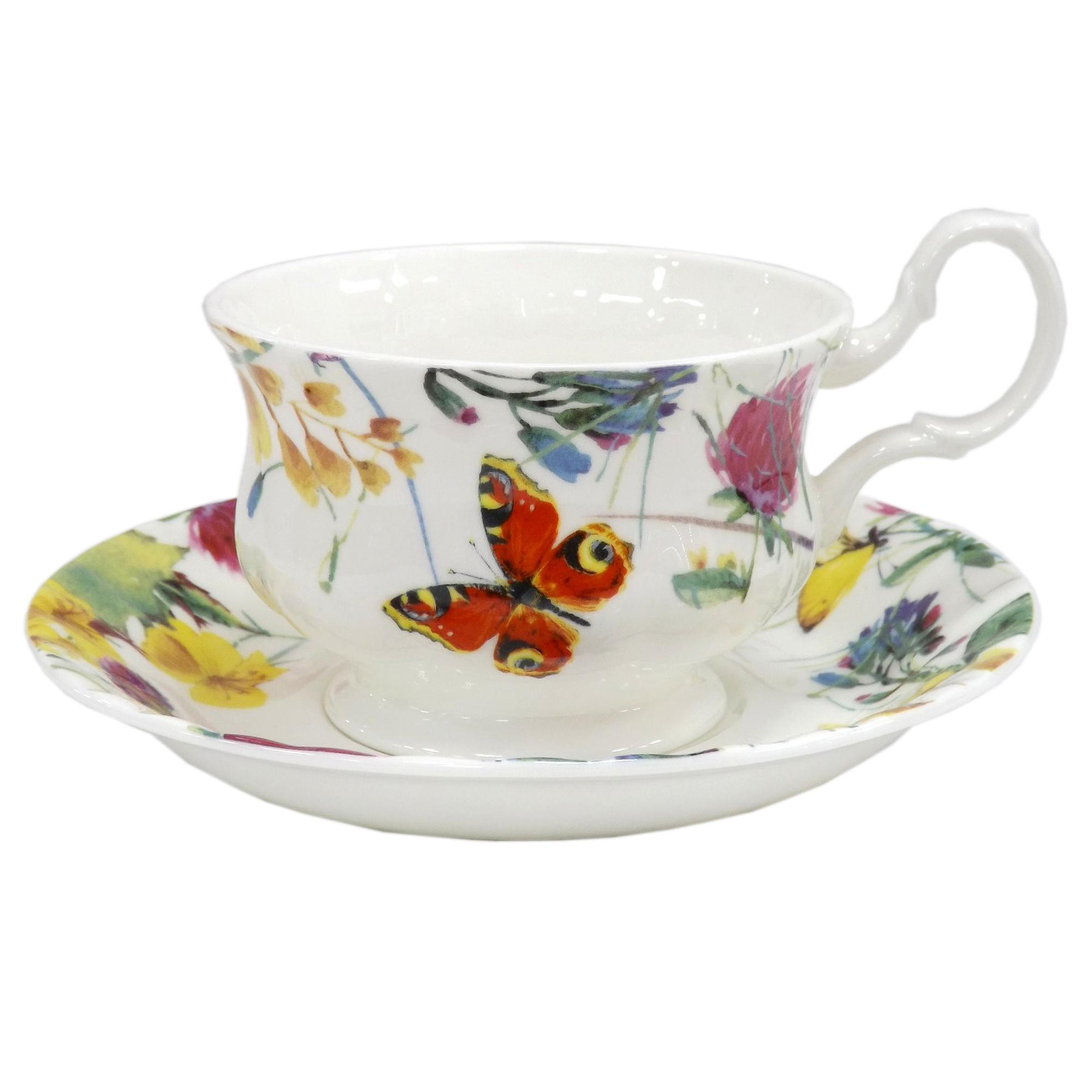 Фото - Пара чайная Top Art Studio Порхающие цветы LD2233-TA чайная пара top art studio королева эстева роз 300 мл