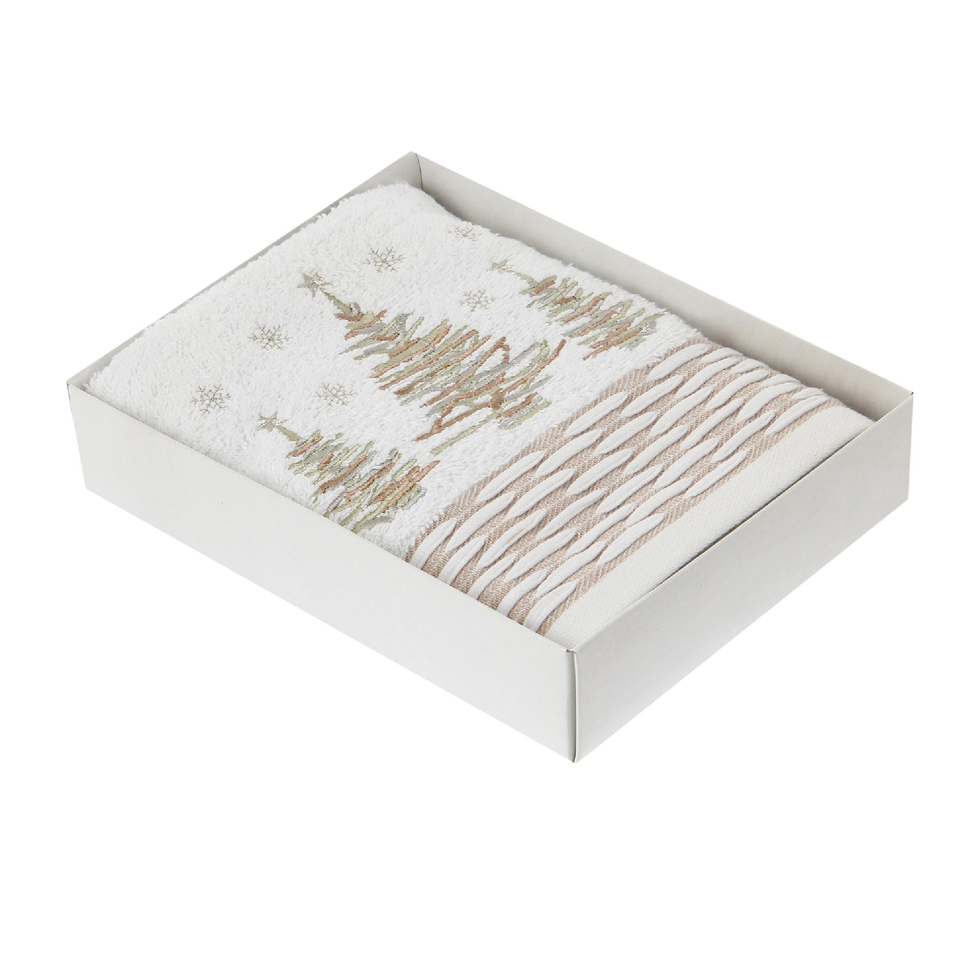 Полотенце Daily рождество белое 50х90
