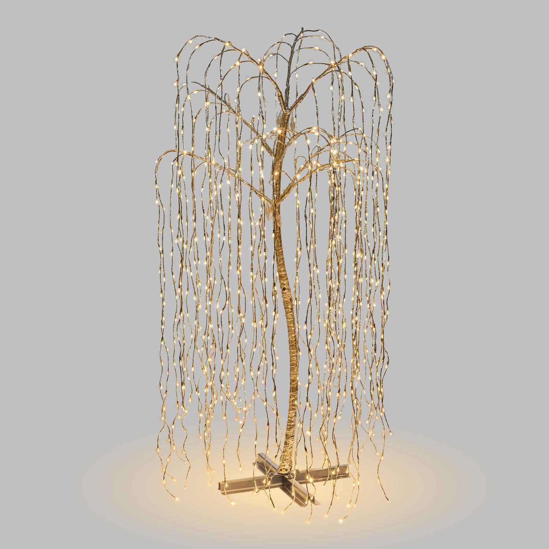 Фото - Дерево светящееся ива серебряный 1024 led Lotti 36659 гирлянда свечи 6м темно зеленый пвх 30 led тепло белые