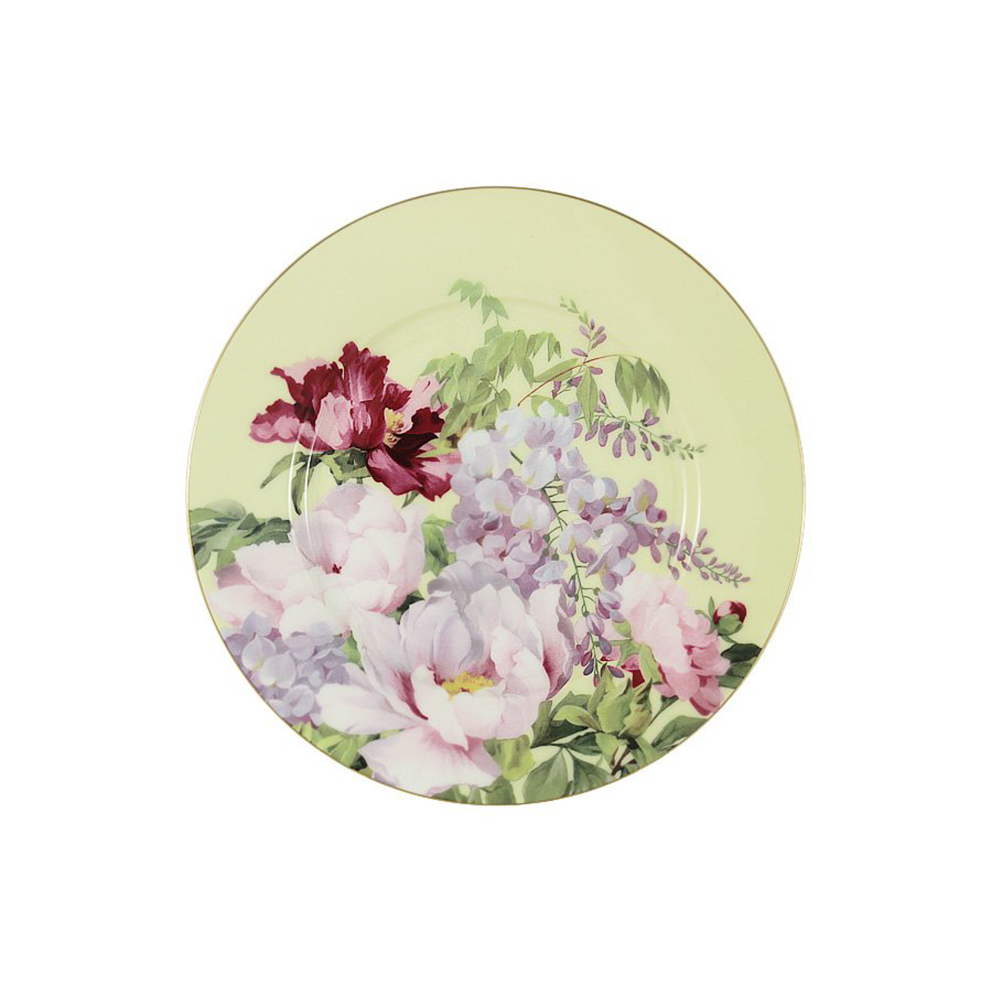 Тарелка десертная Anna Lafarg Райский сад желтый 19 см тарелка закусочная anna lafarg emily kamelia 19 см