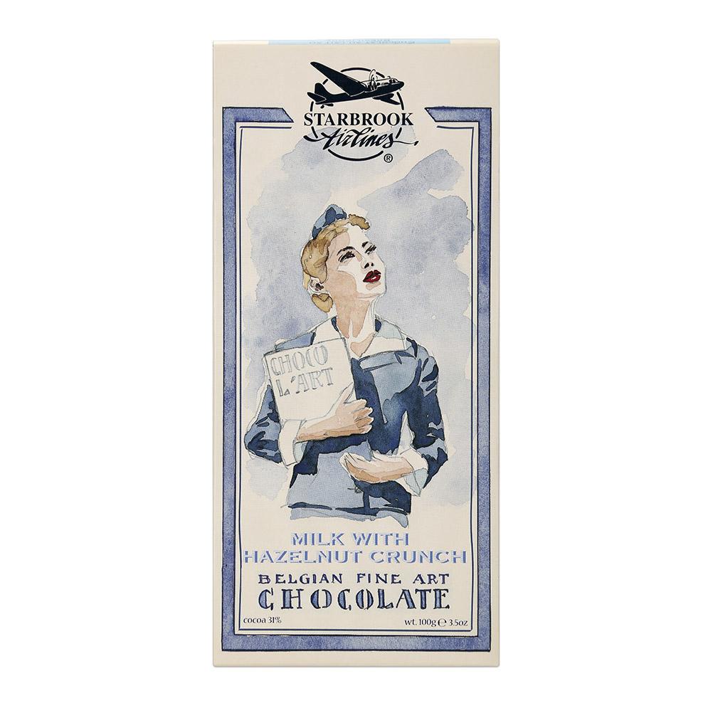 шоколад молочный icam 100 г Шоколад Starbrook Airlines молочный с дробленым фундуком 100 г