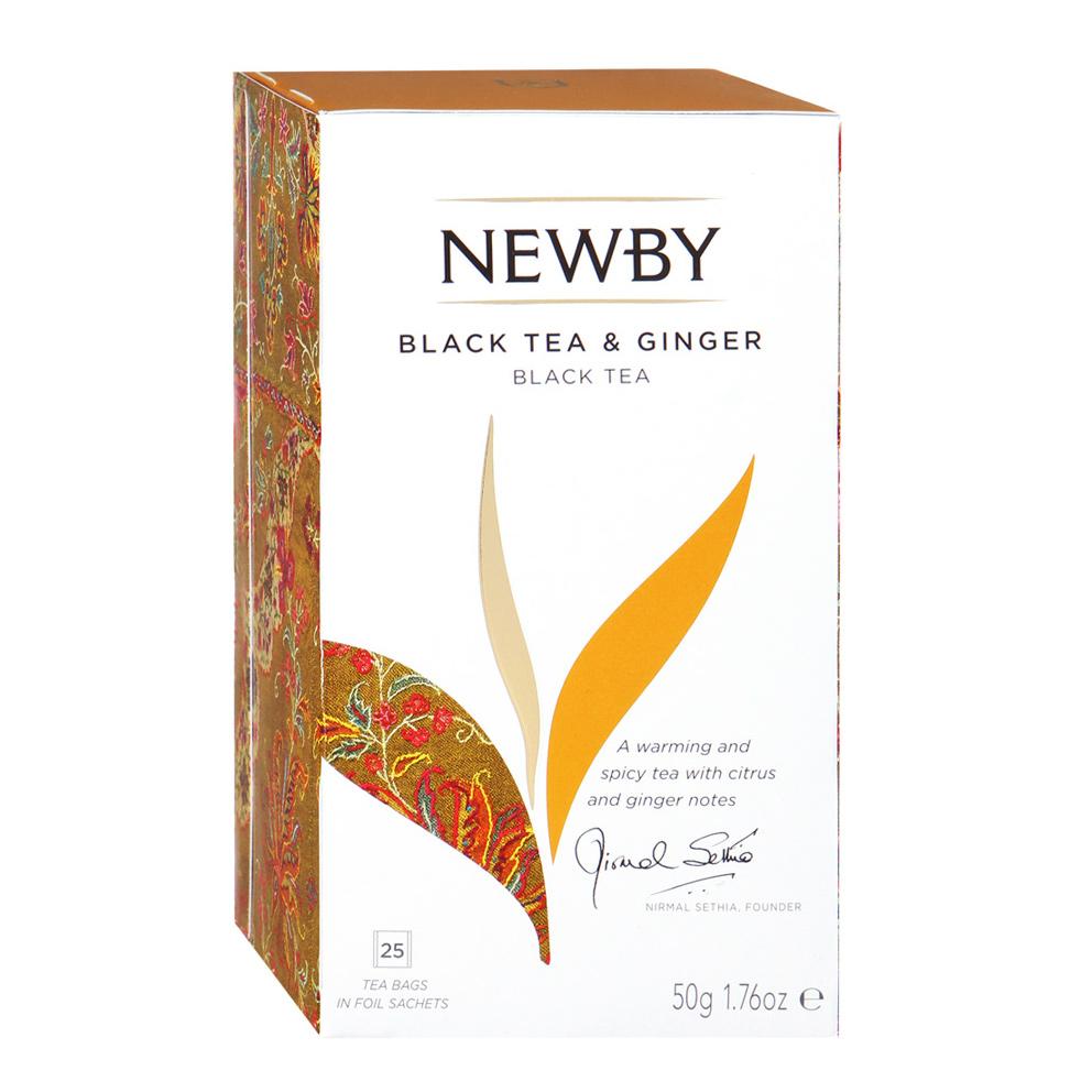 Чай черный Newby с имбирем 25 пакетиков