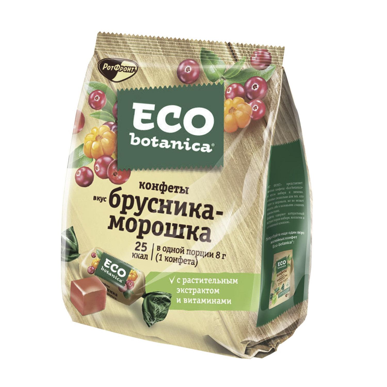 шоколад eco botanica горький с клюквенными ягодами 85г Конфеты Eco Botanica со вкусом Брусника-Морошка 200 г