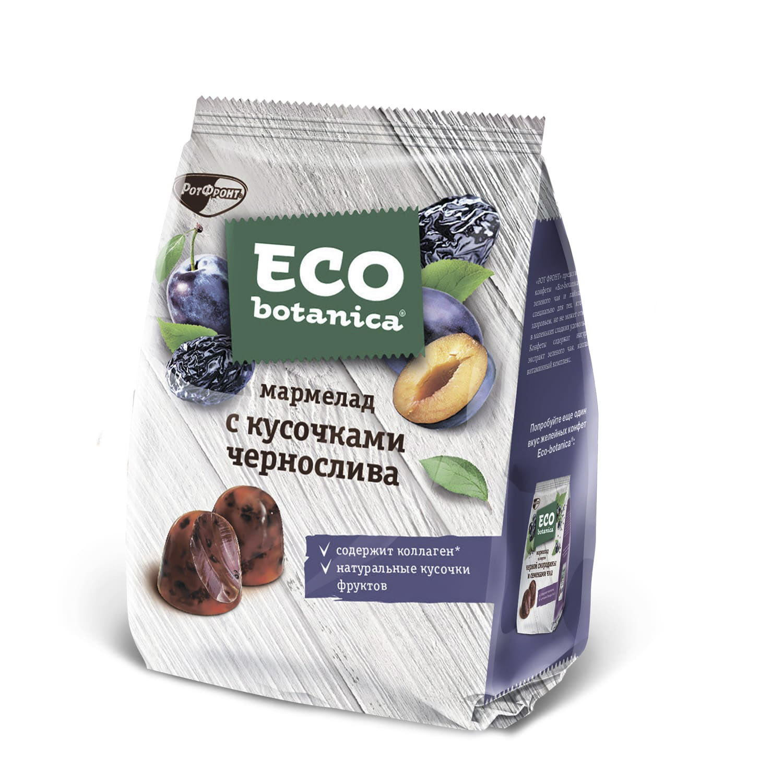 шоколад eco botanica горький с клюквенными ягодами 85г Мармелад Eco Botanica с кусочками чернослива 200 г