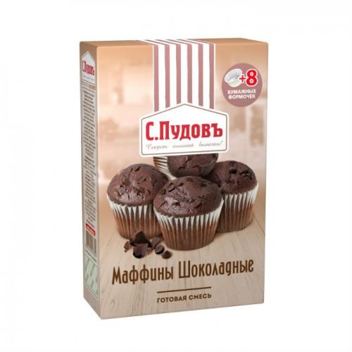 Мучная смесь С.Пудовъ Маффины шоколадные 250 г фото