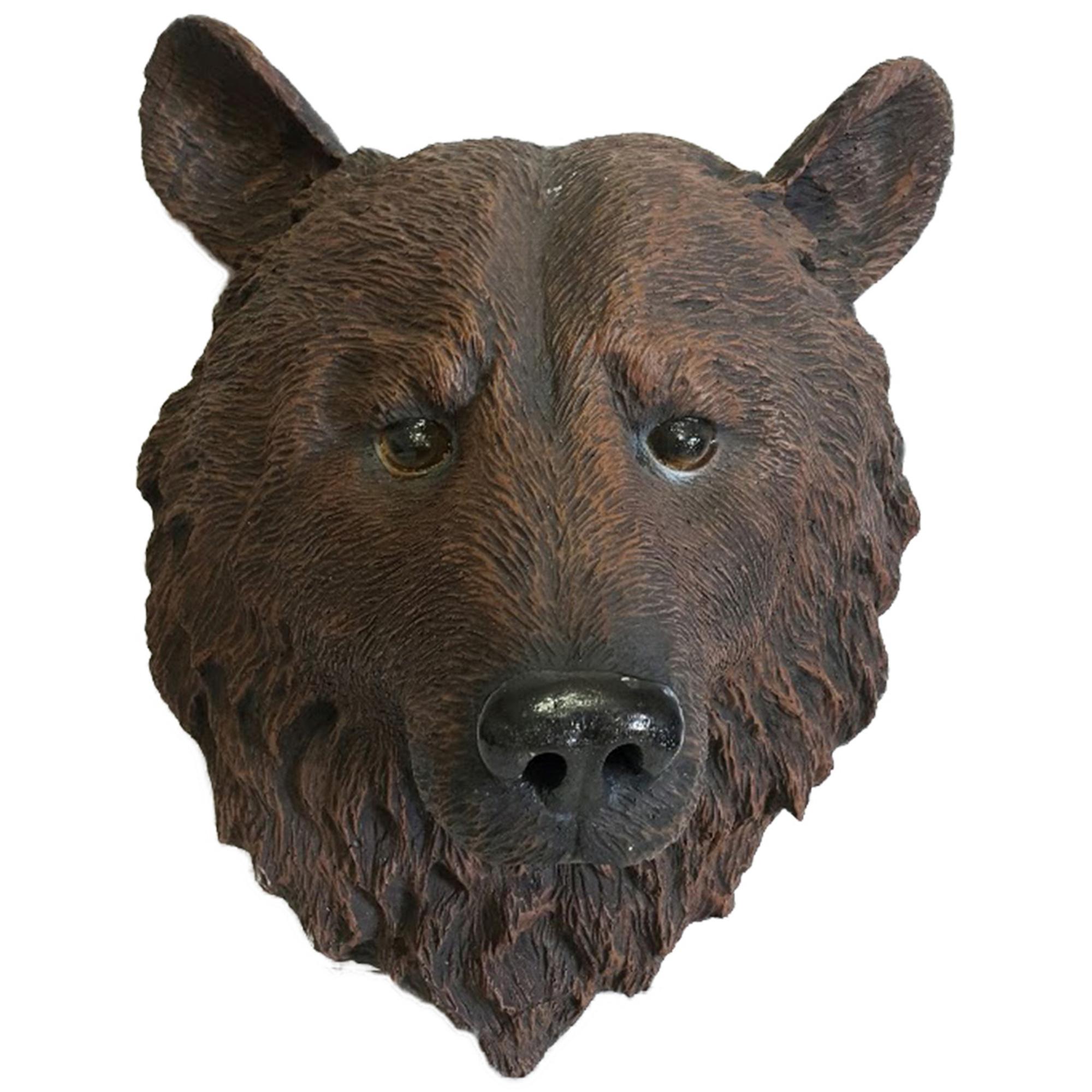 Изделие декоративное Тпк полиформ Медведя голова 44 см БРОНЗА
