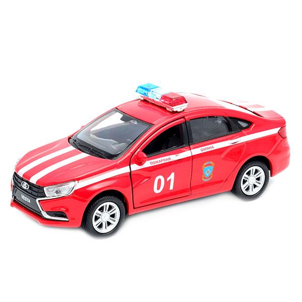 Игрушка модель машины Welly LADA Vesta Пожарная охрана 1:34-39 фото