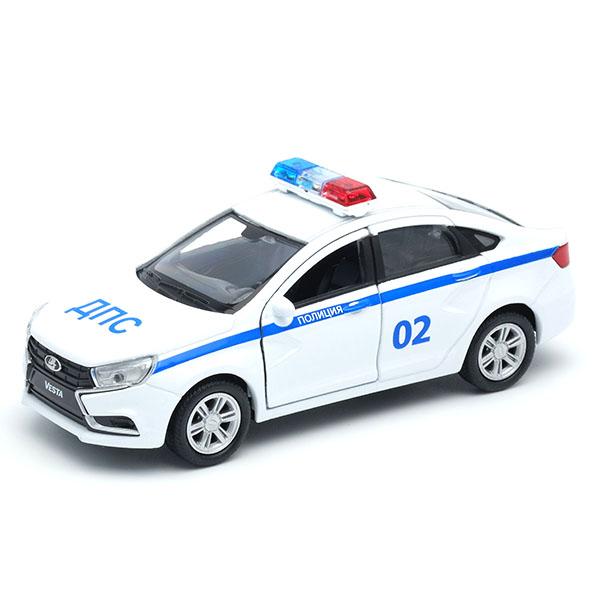 Игрушка модель машины Welly LADA Vesta Полиция ДПС 1:34-40.
