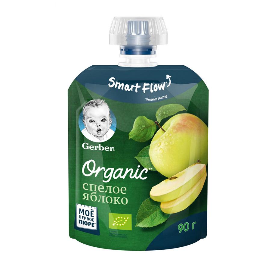 Фото - Пюре фруктовое Gerber Organic Спелое яблоко 90 г пюре gerber organic банан манго злаки йогурт с 8 мес 90 г