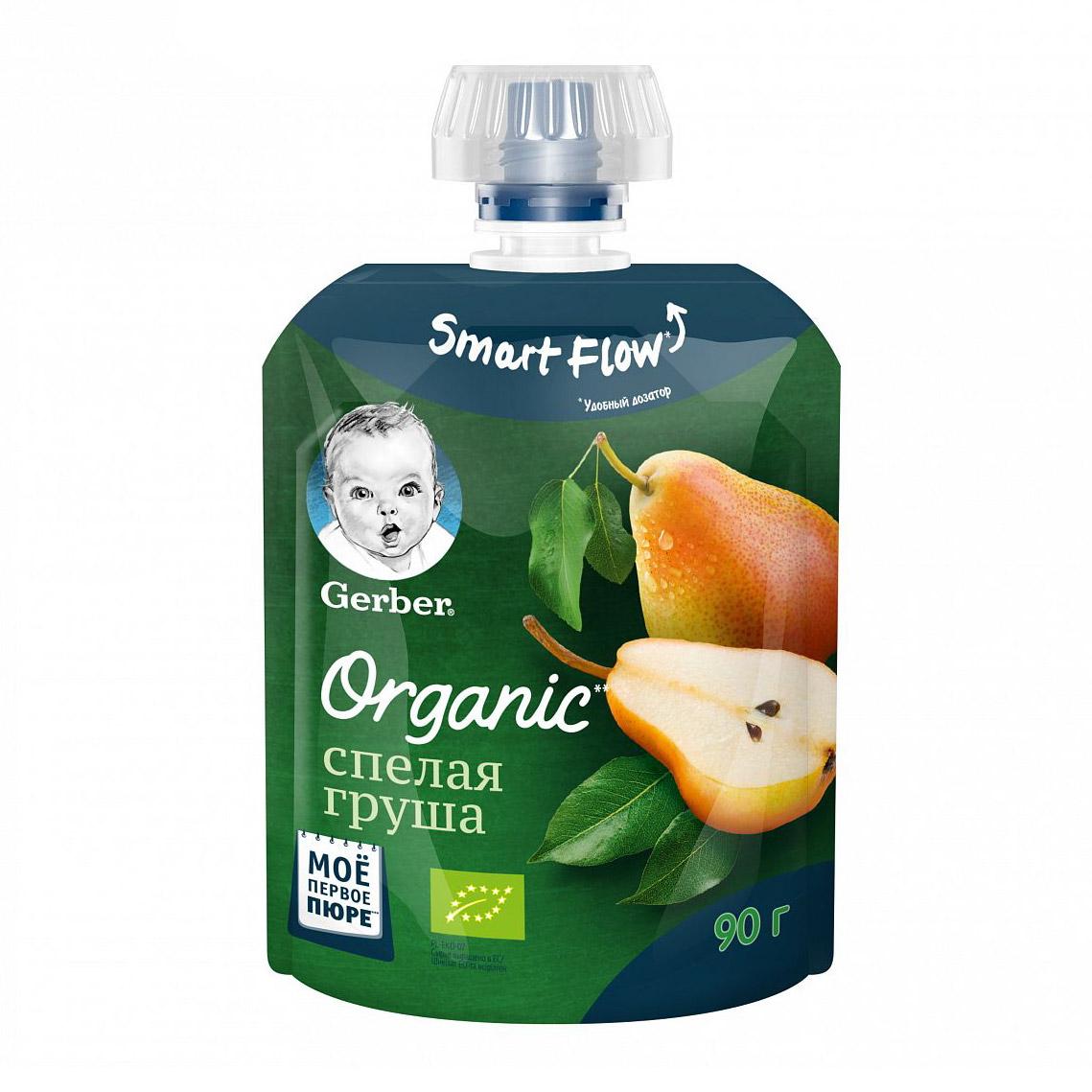 Фото - Пюре фруктовое Gerber Organic Спелая груша 90 г пюре gerber organic банан манго злаки йогурт с 8 мес 90 г