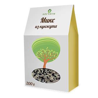 Микс из кунжута ОРГТИУМ 200 г микс семян льна оргтиум 200 г